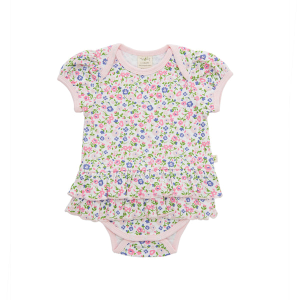 Tiny Twig - Frill Bodysuit - Summer Flowers