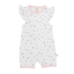 Tiny Twig - Frill Zipsuit ( Cap Sleeve ) - Little Dots