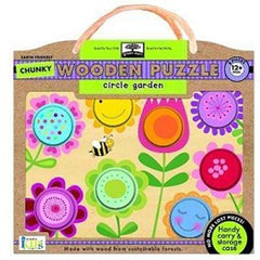 Green Start - Chunky Wooden Puzzle - Circle Garden