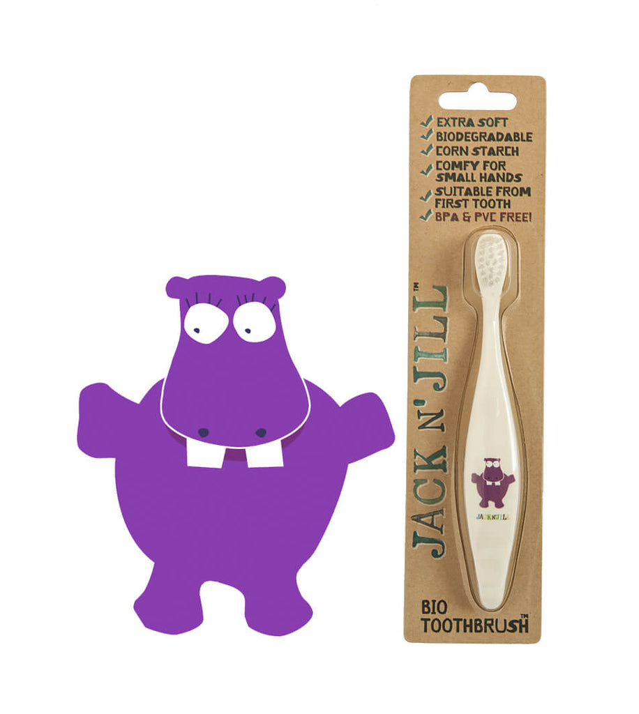 Jack N Jill - Bio Toothbrush - Hippo - Eco Child