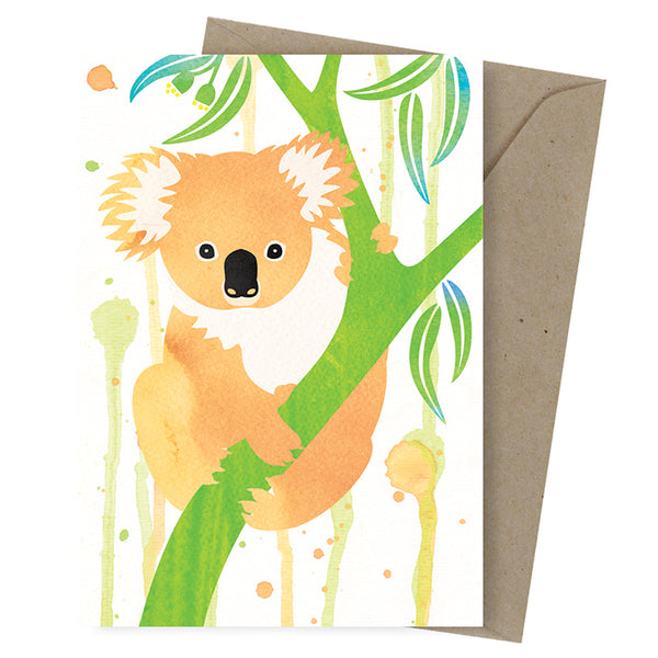 Earth Greetings - 100% Earth Friendly Gift Cards - Greeting Card - Friendly Koala