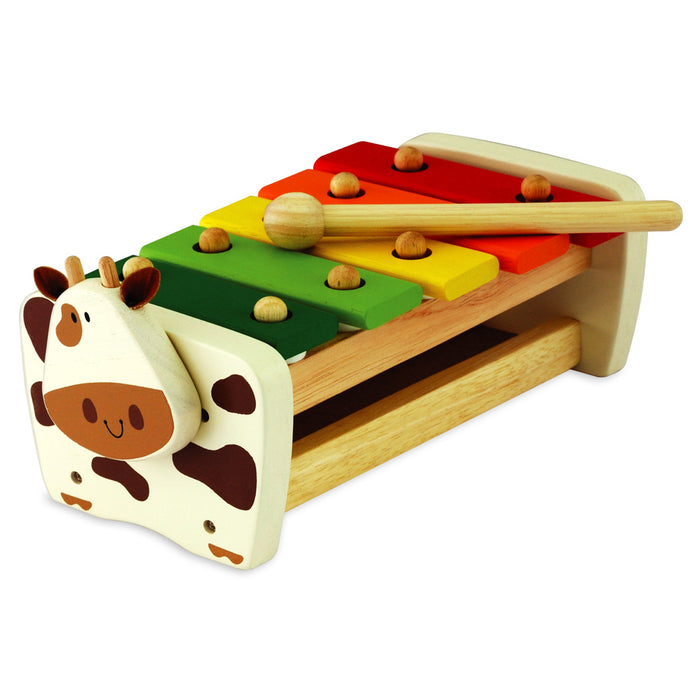 Eco toys  - I'm Toy - Cow Xylophone Bench