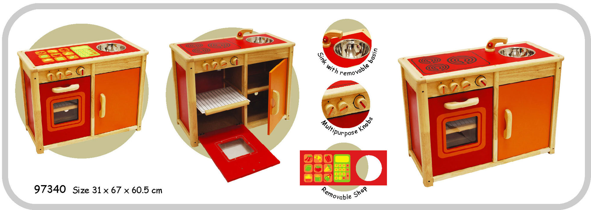 I'm Toy - Oven And Cupboard Sink Unit