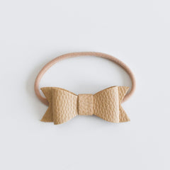 "Bonnie & Harlo - ""Harlo"" Bow Single Headband - Latte"