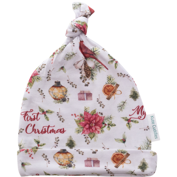 Kute Cuddles - Christmas Joy - Top Knot Beanie - Eco Child