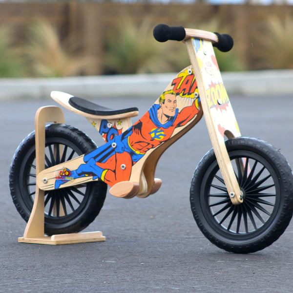 Kinderfeet - Balance Bikes - Retro Superhero - Eco Child