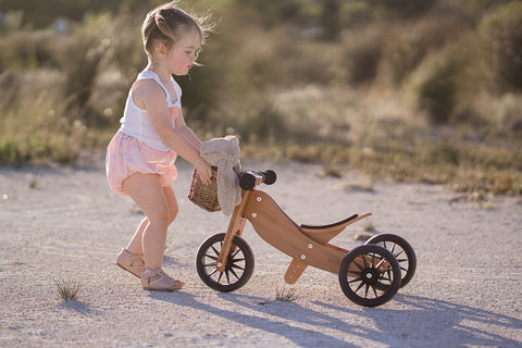 Kinderfeets - Tiny Tot 2 in 1 Tricycle/Balance Bike - Bamboo - Eco Child