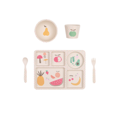Love Mae - 5 Piece Bamboo Dinner Set - Eat your Greens