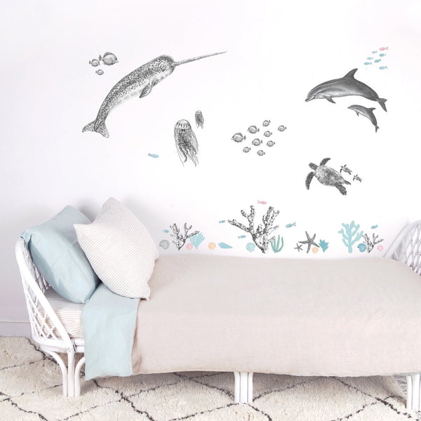 Love Mae - Large Reusable Decal Under The Sea - Eco Child