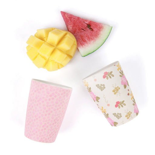 Love Mae - Bamboo 4 Pack Tumblers - Floral & Pink