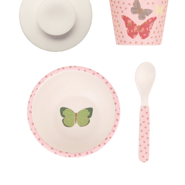 Love Mae - Baby Feeding Set - Butterflies - Eco Child