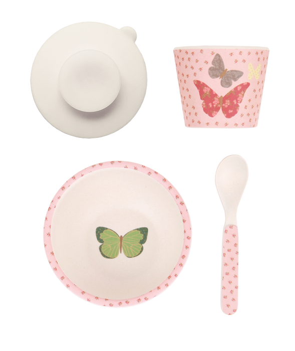 Love Mae - Baby Feeding Set - Butterflies