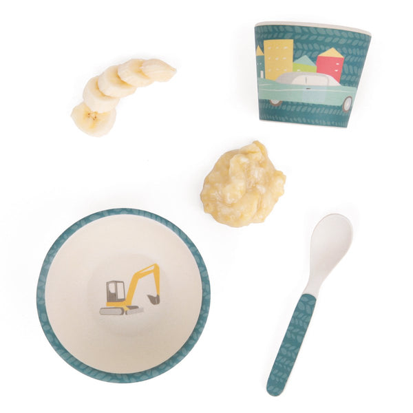 Love Mae - Bamboo Baby Feeding Set Cars - Eco Child