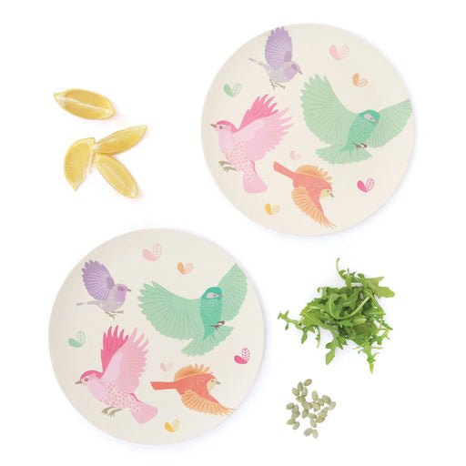 Love Mae - Bamboo 2pk Large Plates - Birds