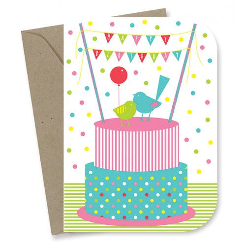 Earth Greetings - 100% Earth Friendly Gift Cards - Birthday - Birdy Cake