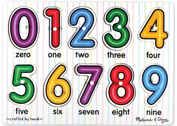 Melissa & Doug - Number Pegs Puzzle