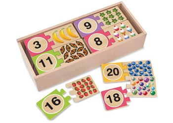 Melissa & Doug - Number Wooden Puzzle Cards