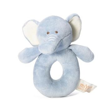 MiYim - 100% Organic Cotton Ring Rattles - Elephant