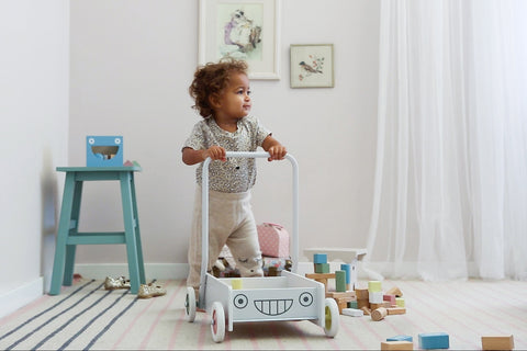 Micki -Baby Walker with blocks - Pastel - Eco Child