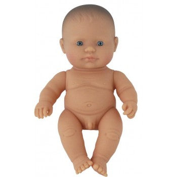 Miniland - Anatomically Correct Baby Doll 21cm- Caucasian Boy ( Undressed )