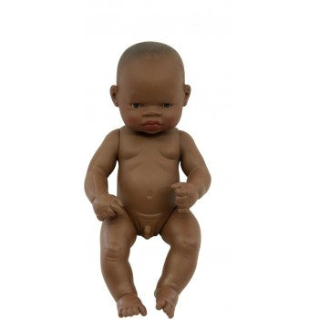 Miniland - Anatomically Correct Baby Doll 32cm - African Boy ( Undressed )