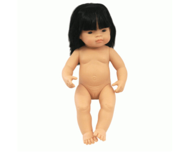 Miniland - Anatomically Correct Baby Doll 38cm - Asian Girl ( Undressed )