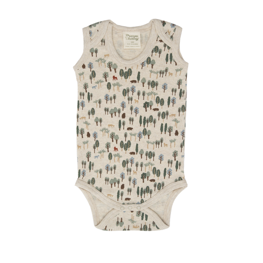 Nature Baby - Singlet Bodysuit - Forest Print