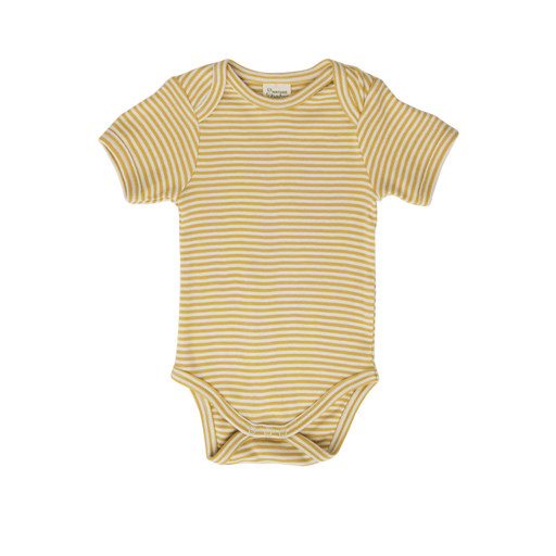 Nature Baby - Short Sleeve Bodysuit - Sunshine Stripe