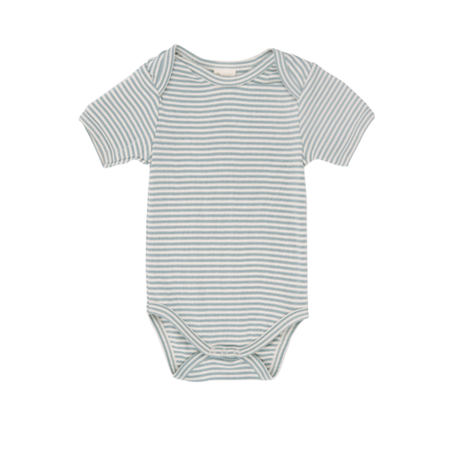 Nature Baby - Short Sleeve Bodysuit - Blue Mist Stripe