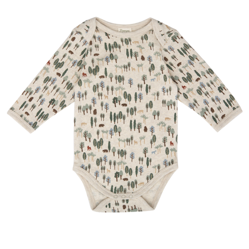 Nature Baby - Long Sleeve Bodysuit - Forest Print