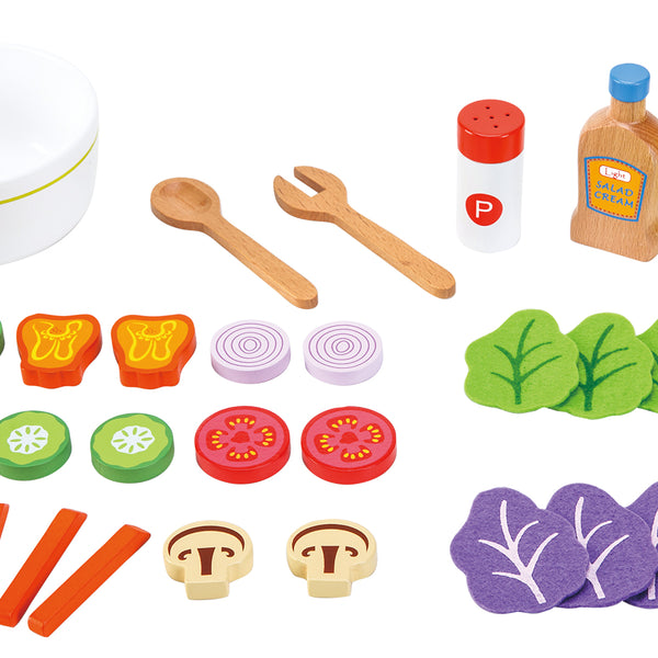 New Classic Toys - Wooden Salad Set - Eco Child