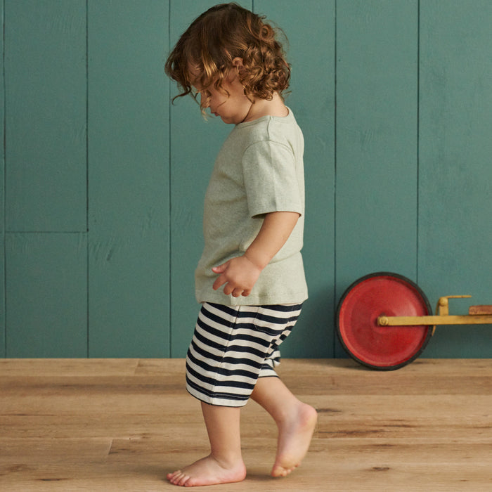 Nature Baby - Jimmy Shorts - Navy Sea Stripe
