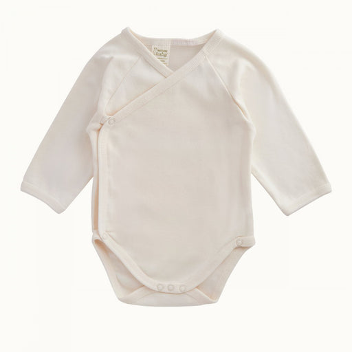 Nature Baby - Long Sleeve Kimono Bodysuit - Natural