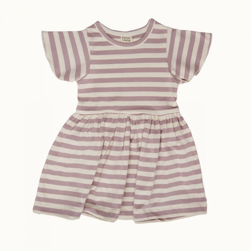 Nature Baby - Petal Sleeve Dress - Lilac Sea Stripe