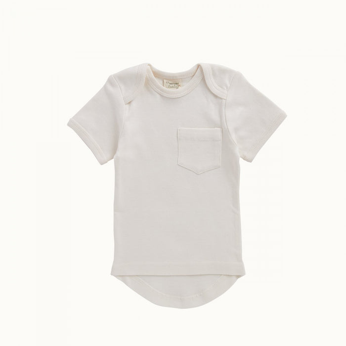 Nature Baby - Short Sleeve Pocket Tee- Natural