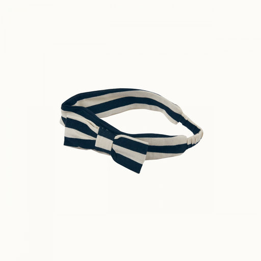 Nature Baby - Stretch Jersey bow Headband - Navy Sea Stripes