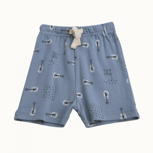 Nature Baby - Teddy Shorts - Bobs Land Blue Print