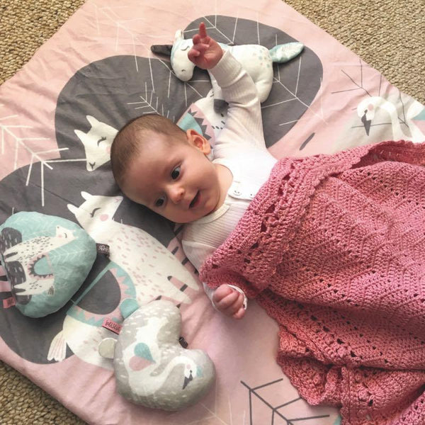 OB Designs - Crochet Baby Blanket - Handmade Blush Pink - Eco Child