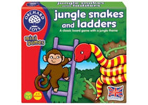 Orchard Toys - Travel Sized Mini Games - Jungle Snakes & Ladders - Eco Child