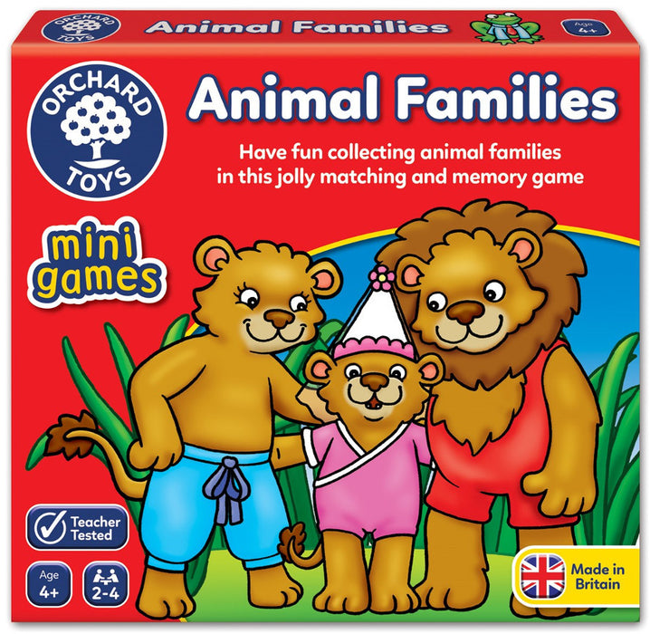 Orchard Toys - Travel Sized Mini Games - Animal Families