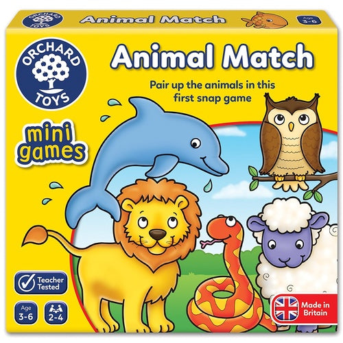 Orchard Toys - Travel Sized Mini Games - Animal Match
