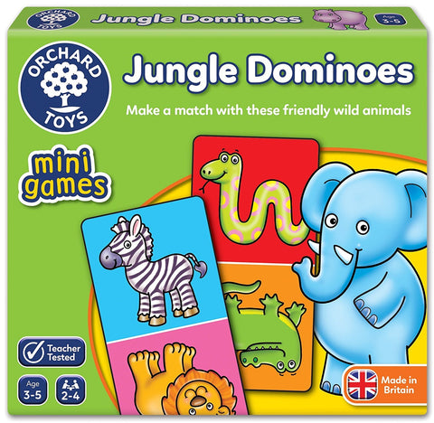 Orchard Toys - Travel Sized Mini Games - Jungle Dominoes - Eco Child