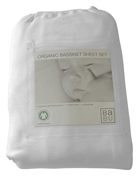 Babu - Organic Bassinet Sheet Set