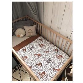 Pop Ya Tot - Creatures of the Woods 100% Organic Cotton - Reversible Cot Quilt - Eco Child