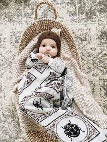Pop Ya Tot - Snug as a Bug - 100% Organic Cotton Swaddle - Eco Child