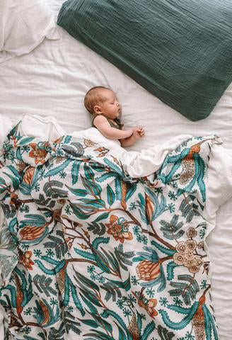 Pop Ya Tot - Wattle and Gum - 100% Organic Cotton Swaddle - Eco Child