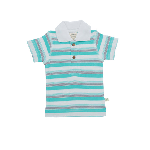 Tiny Twig - Polo Tee - Space Stripes