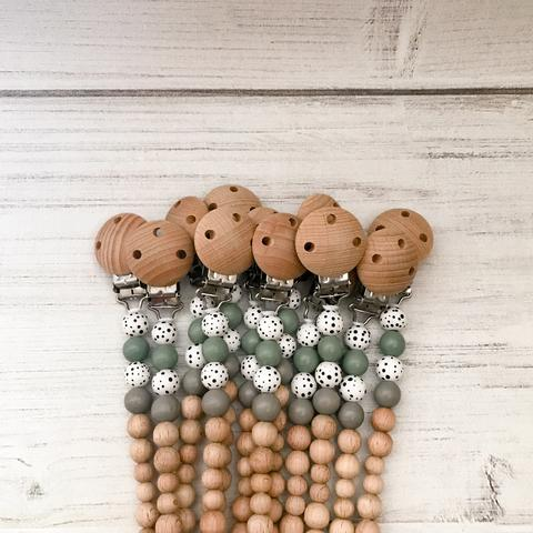 Pop Ya Tot - Dummy Chain -Sage Green  Best Sellers, Dummies & Dummy Chains, dummy-chains, Pop Ya Tot Dummy Chains Dummy Chains Pop Ya Tot Natural dummy chain Eco friendly dummy chain Eco Natural Non toxic Sustainable