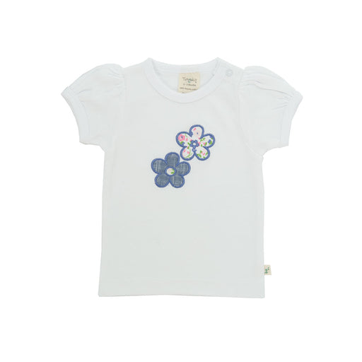 Tiny Twig - Puff Sleeve Tee - White/Applique