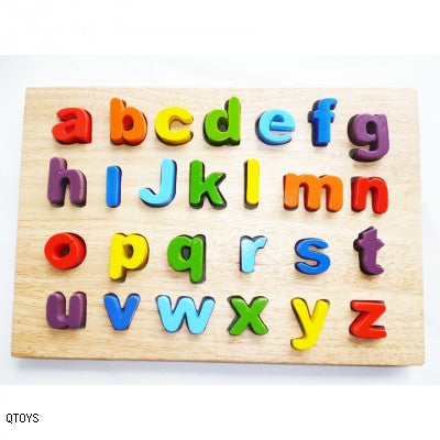 Qtoys - Wooden Lower Case Letter Puzzle